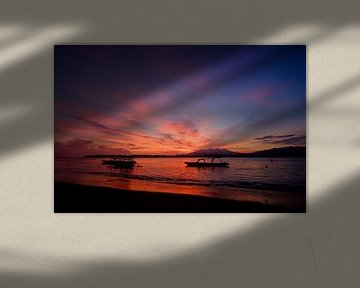 Zonsopkomst boven Bali van Sebastiaan Hamming
