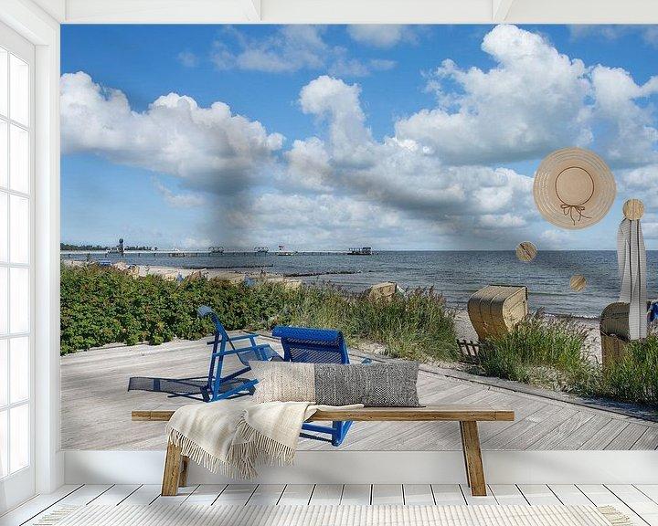 Beispiel fototapete: Strand im Ostseebad Kellenhusen,Deutschand von Peter Eckert