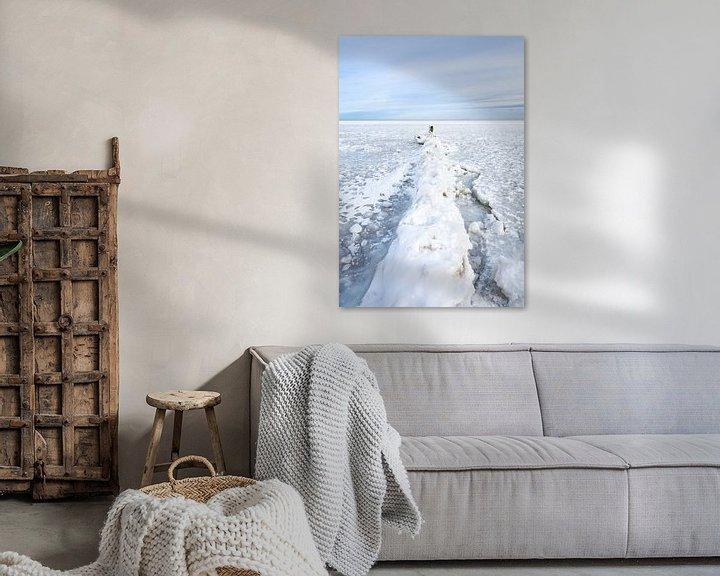 Sfeerimpressie: Winter aan het IJsselmeer 2021 van Etienne Hessels
