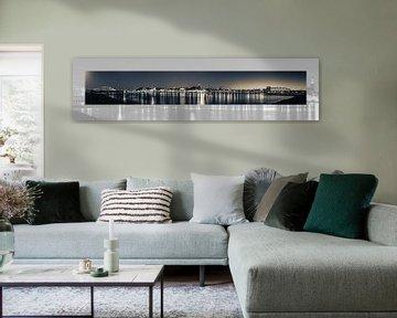 Panoramafoto Nijmegen met passepartout van Henk Kersten