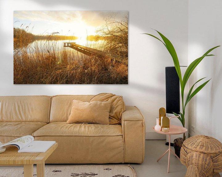 Beispiel: Steg bei Sonnenuntergang (Niederlande) von Marcel Kerdijk