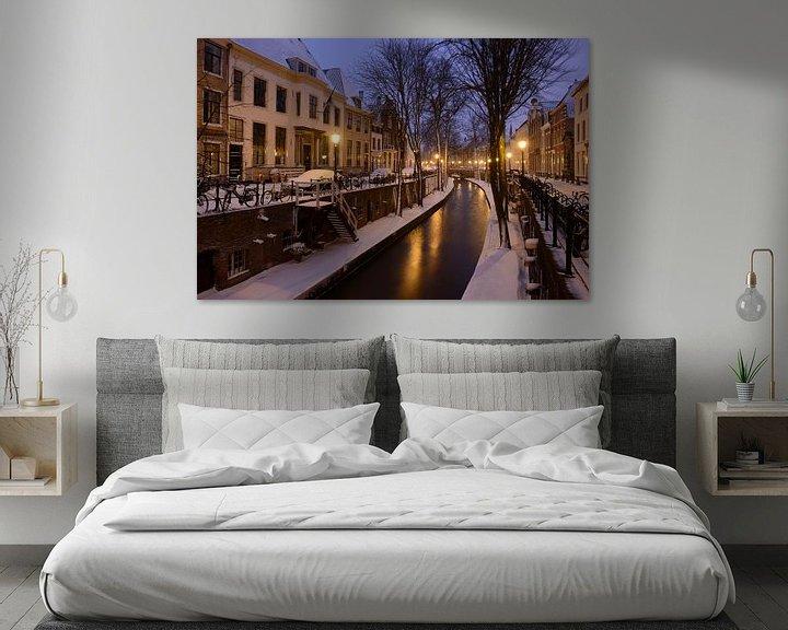 Beispiel: Nieuwegracht in Utrecht zwischen Pausdam-Brücke und Paulus-Brücke von Donker Utrecht