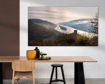 La vallée du Rhin et le Rheingau à la lumière du matin sur Jens Sessler