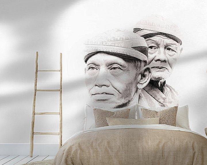 Sfeerimpressie behang: Krontjong leden van Dick Jeukens