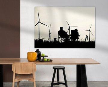 Uitrusten bij windmolens van Klik! Images