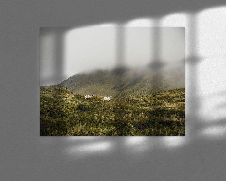 Beispiel: Schafe in den Wolken von Oscar van Crimpen