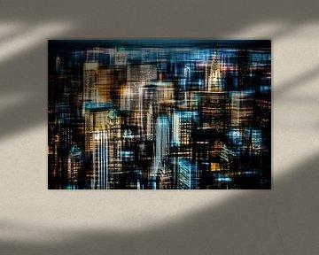 Downtown II van Hannes Cmarits