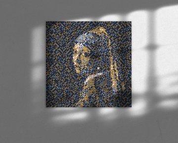 Geometrisch Meisje met de parel van Ramon Schellevis