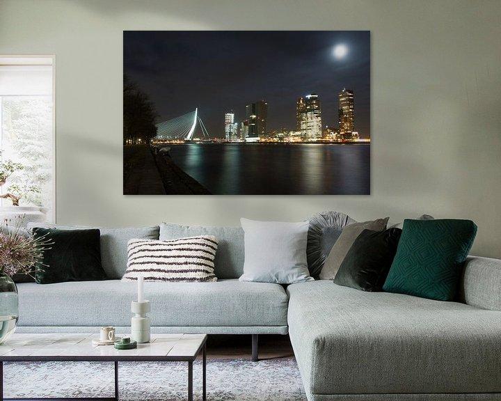 Sfeerimpressie: Rotterdam bij nacht van Rogier Vermeulen