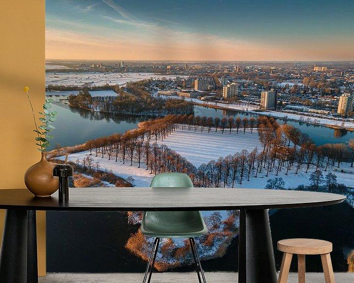 Sfeerimpressie behang: Zonsondergang ster van Ruud Peters