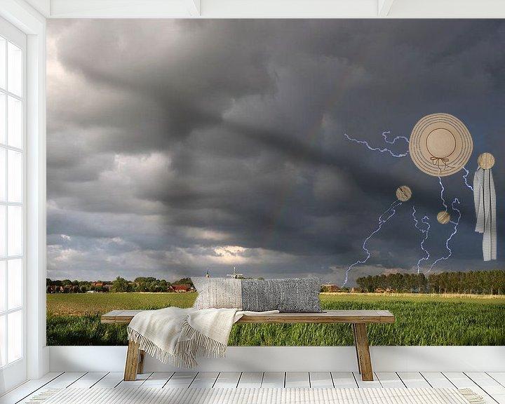 Sfeerimpressie behang: onweersbui van Rolf Pötsch