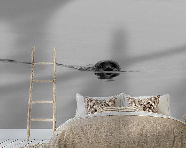 Beispiel fototapete: Dichtung schwarz/weiß (2) von Anjo ten Kate