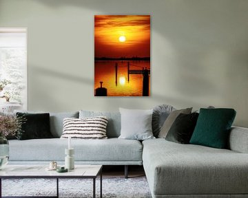 Zonsondergang in Morra von Harrie Muis