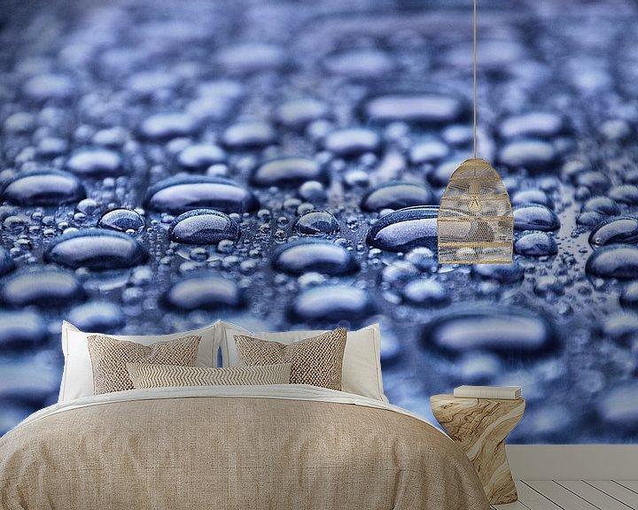 Sfeerimpressie behang: dauwdruppels van Jessica Berendsen