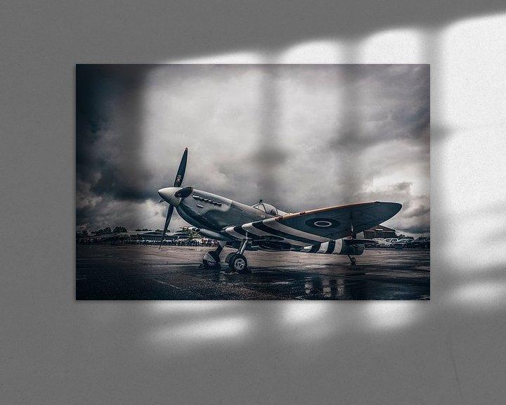 Sfeerimpressie: Spitfire in the rain van Sebastiaan Hamming