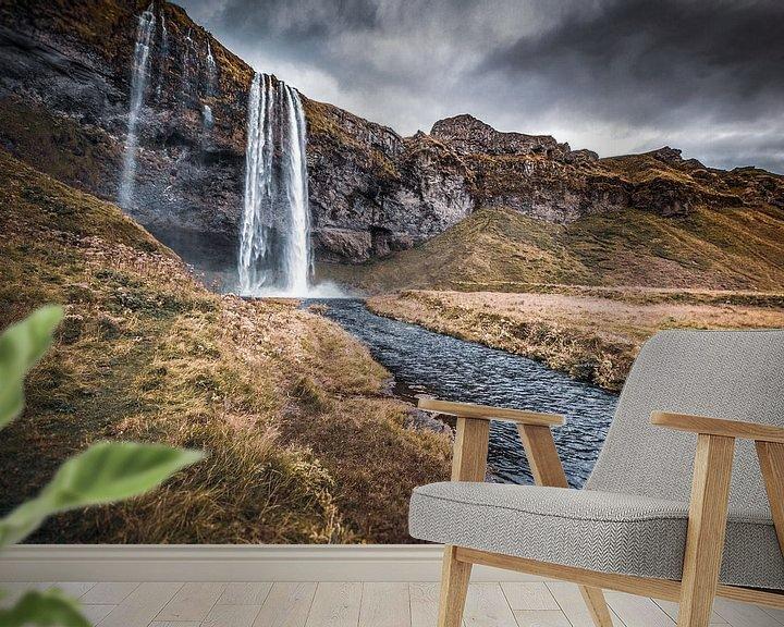 Beispiel fototapete: Seljalandsfoss von Angelina Müller