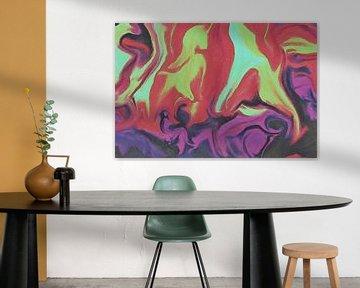 Abstrait - Épopée mythique - Peinture