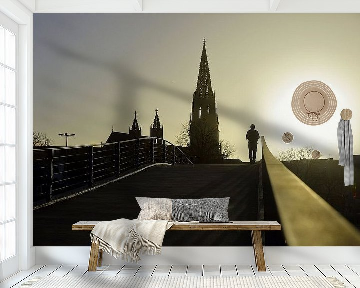 Beispiel fototapete: Sonnenuntergang in Freiburg von Patrick Lohmüller