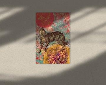 Fuchs in Gold von Jadzia Klimkiewicz
