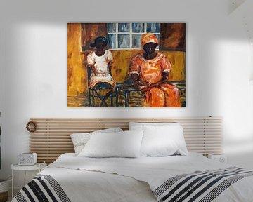 Afrikanische Mutter und Tochter. von Ineke de Rijk