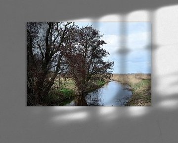 Un ruisseau à travers la campagne sur Gerard de Zwaan