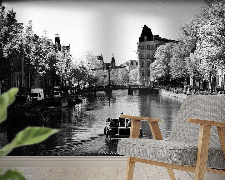 Sfeerimpressie behang: Binnenstad van Amsterdam van Hendrik-Jan Kornelis