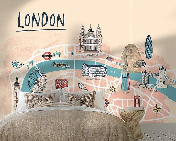 Beispiel fototapete: Londoner Stadtplan von Karin van der Vegt