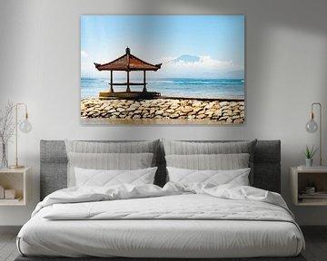 Pagode op Sanur Beach - Bali | Reisfotografie Indonesië van Travelaar