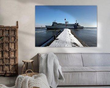 MS Midsland en hiver, Terschelling sur Mooi op Terschelling