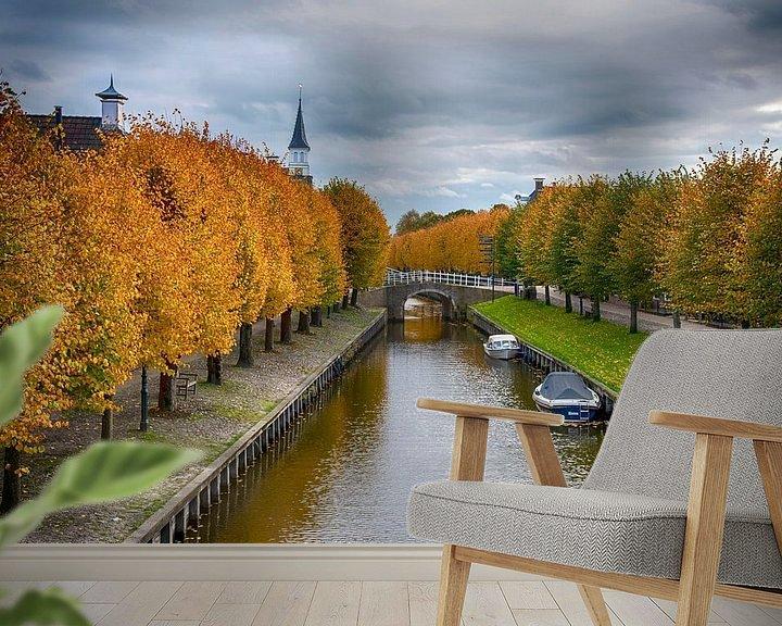 Sfeerimpressie behang: Sloten in herfsttooi van Franke de Jong