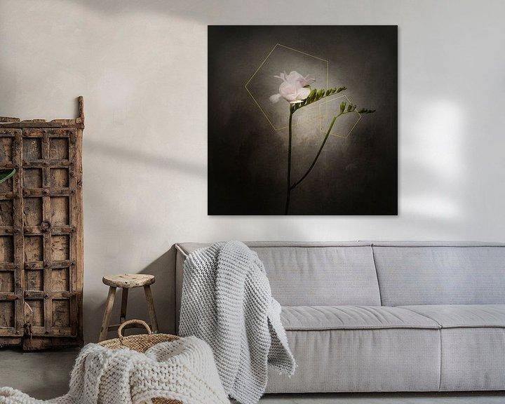 Beispiel: Grazile Blume - Die Freesie | Vintage-Stil gold von Melanie Viola