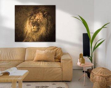Leo abstrakt von Marjolein van Middelkoop