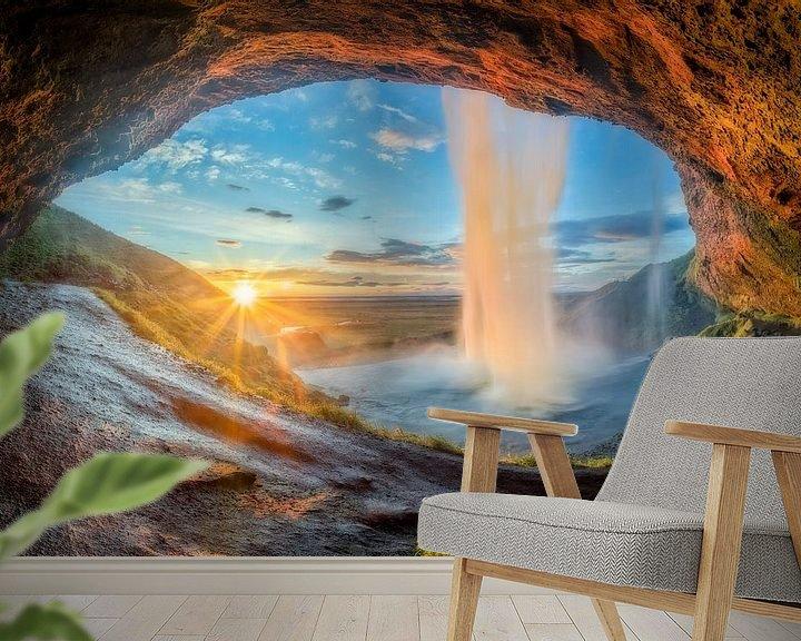 Impression: Chute d'eau Seljalandsfoss en Islande sur Dieter Meyrl