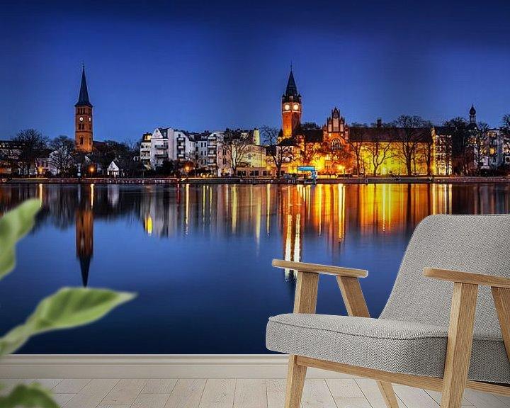 Impression: Berlin - Panorama de la vieille ville de Köpenick à l'heure bleue sur Frank Herrmann