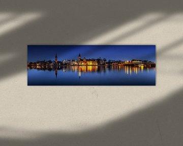 Berlin - Panorama de la vieille ville de Köpenick à l'heure bleue