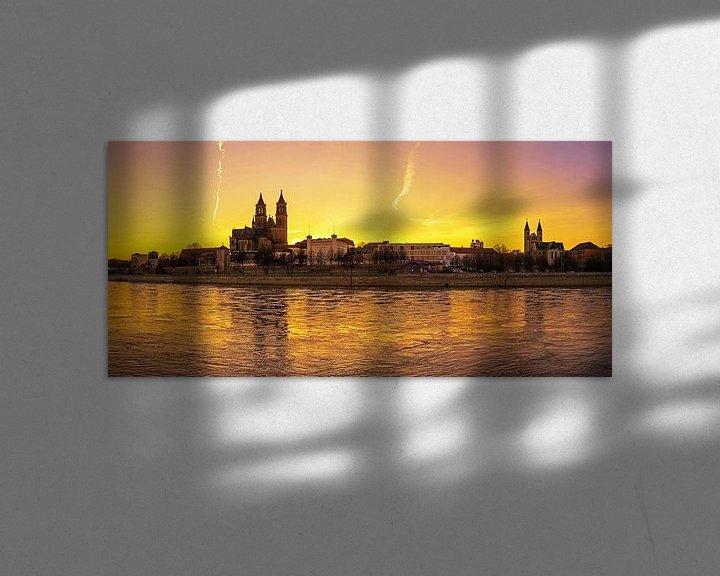 Impression: Ligne d'horizon de Magdebourg sur Frank Herrmann