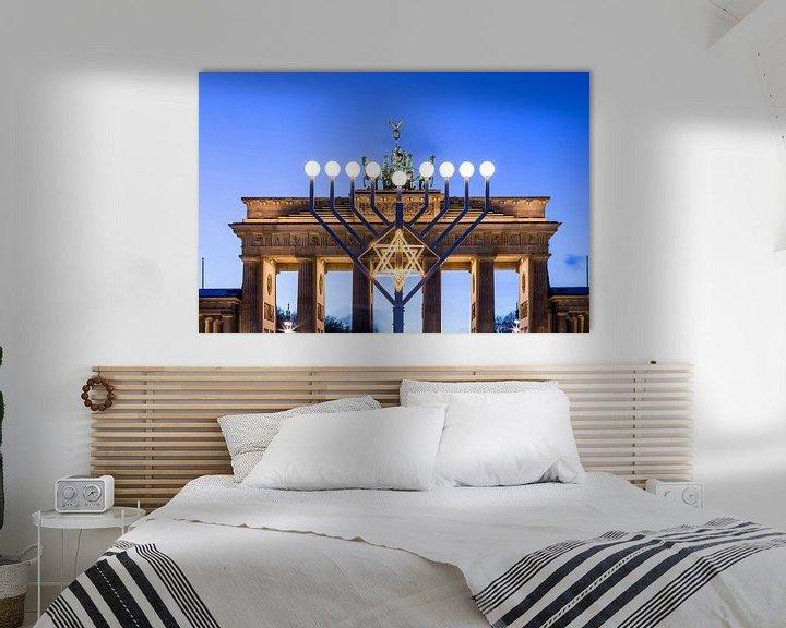 Sfeerimpressie: Brandenburger Tor en Chanoeka-kroonluchter van Frank Herrmann