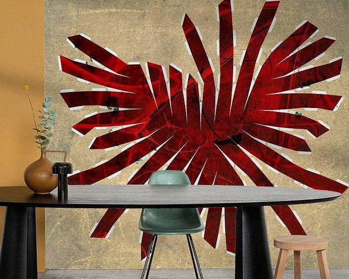 Beispiel fototapete: Figuren und Formen - Rot gefächert von Christine Nöhmeier