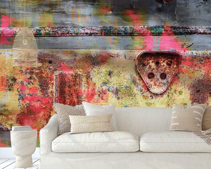 Sfeerimpressie behang: Roest structuur -creatief- 03d van Manfred Rautenberg Photoart