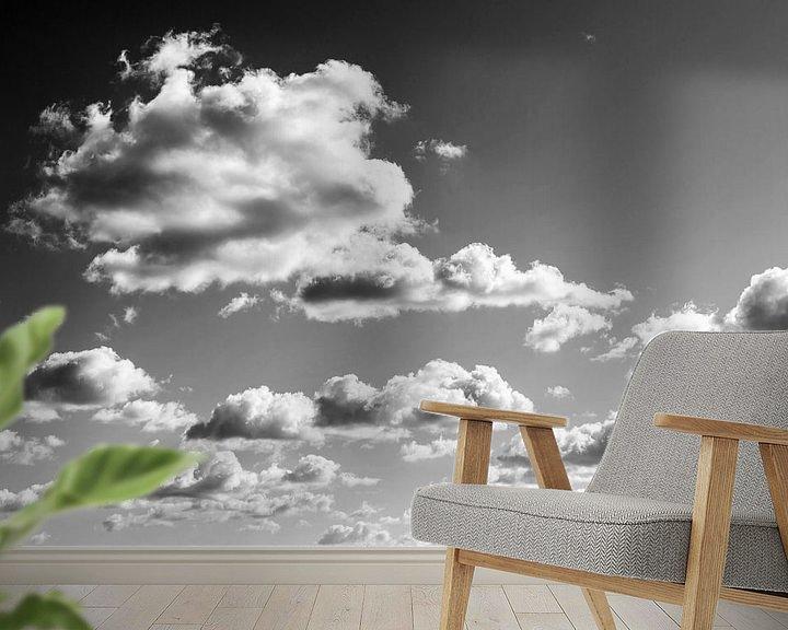 Sfeerimpressie behang: Bewolkte hemel van Frank Herrmann