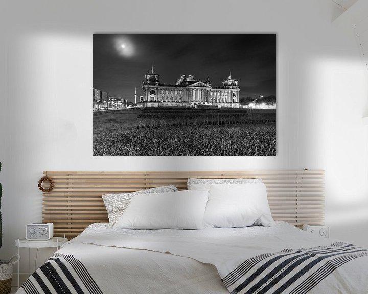 Impression: Le bâtiment du Reichstag de nuit sur Frank Herrmann