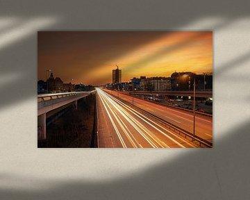 Berlin Steglitz au coucher du soleil