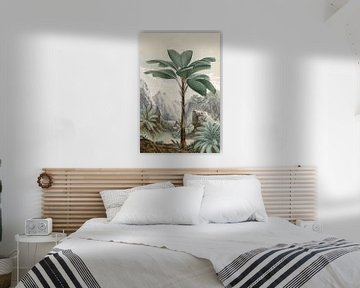 Tropisch landschap met palmboom van Andrea Haase