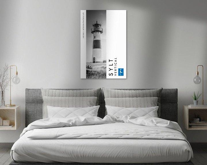 Beispiel: Sylt Vertical Leuchtturm List-Ost (Schwarz-weiß) von Christian Müringer