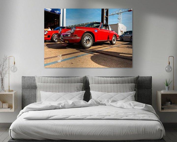Sfeerimpressie: Rode Porsche van Brian Morgan