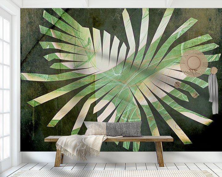 Beispiel fototapete: Jungle - grün gefächert von Christine Nöhmeier