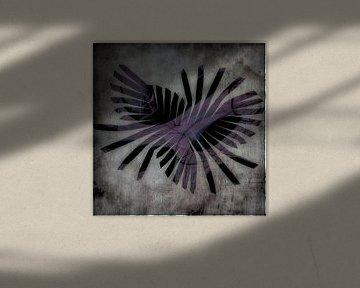 Jungle -violett gefächert von Christine Nöhmeier