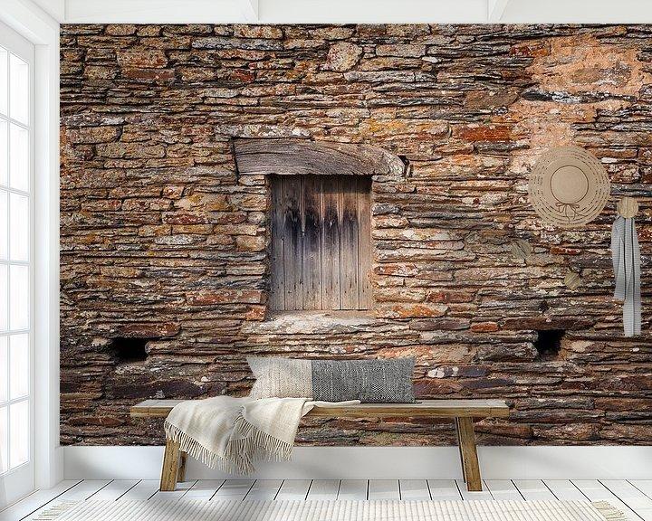 Beispiel fototapete: Steinmauer von John Groen