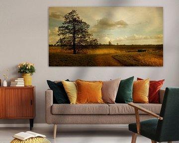 Niederländische Landschaft am Fluss Lek von Marijke van Loon