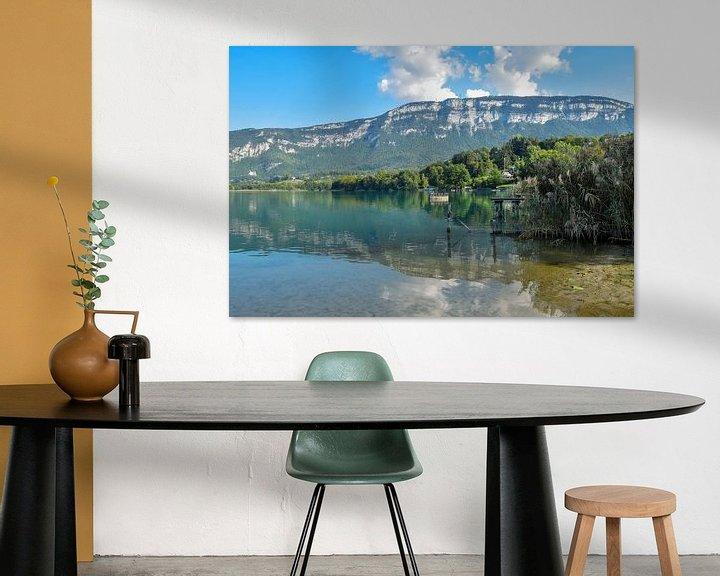 Sfeerimpressie: Het meer van Aiguebelette op een vroege avond in September van Alice's Pictures